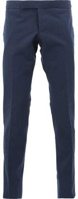 Thom Browne Low Rise Skinny Side Tab Trouser In Salt Shrink Cotton