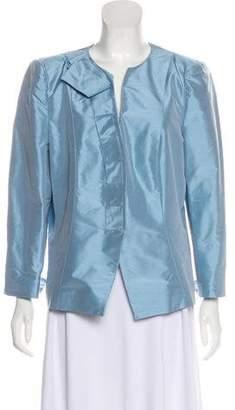 Armani Collezioni Silk Long Sleeve Jacket