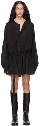 Ann Demeulemeester Black Belted Shirt Dress
