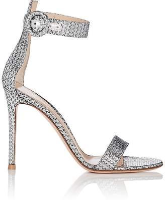 Gianvito Rossi Women's Portofino Metallic Ankle-Strap Sandals