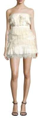BCBGMAXAZRIA Tiered Ruffle Mini Dress