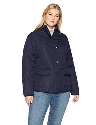 The Plus Project Women's Plus Size Quilted Puffer Down Vest with Hood 2X-Large