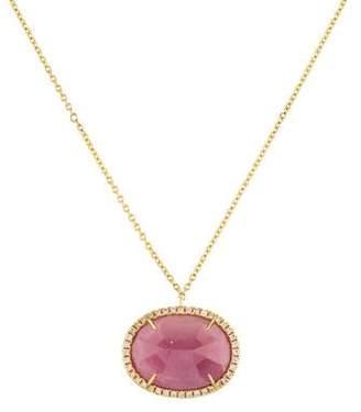 Rina Limor Fine Jewelry 18K Pink Sapphire & Diamond Pendant Necklace