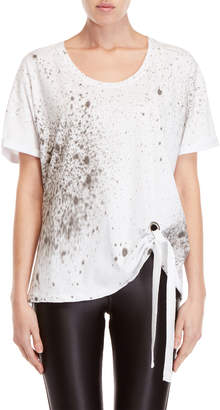 Religion Pulse Printed Tie-Front Tee