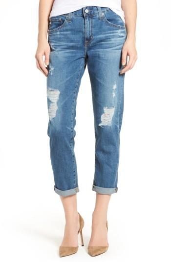 AG JeansWomen's Ag Ex-Boyfriend Crop Slim Jeans