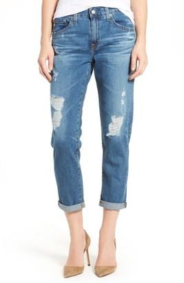 Women's Ag Ex-Boyfriend Crop Slim Jeans $225 thestylecure.com