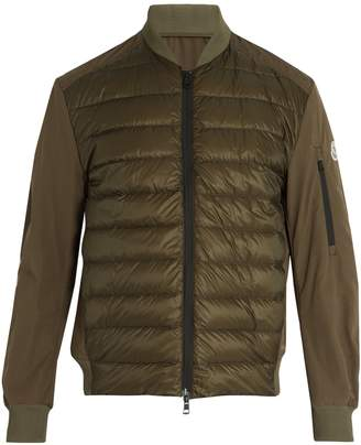 Moncler Ariege contrast-panel quilted down jacket