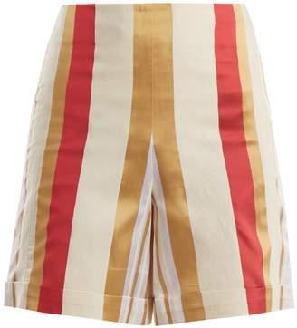ZEUS + DIONE Petra striped silk-blend shorts