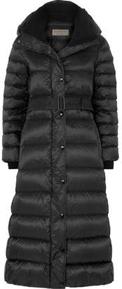 Burberry Fleece-trimmed Quilted Shell Down Coat