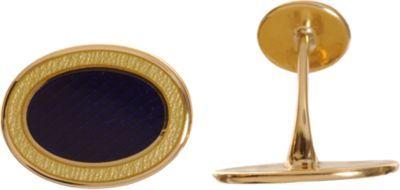 Barneys New York Rose Gold & Enamel Oval Cufflinks