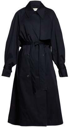 The Row Kereem Oversized Cotton Blend Trench Coat - Womens - Navy