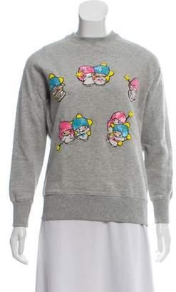 Olympia Le-Tan Embellished Crew Neck Sweatshirt