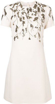 Valentino sequin embroidery dress