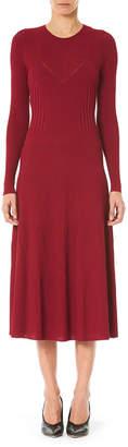 Carolina Herrera Ribbed Bustier Sweater Dress