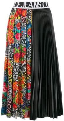 Versace printed pleated midi skirt