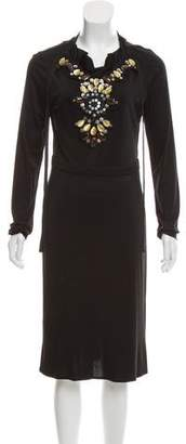 Tory Burch Embellished Silk Dress