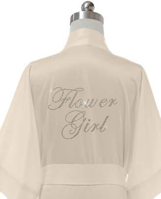 SIORO Womens Robe Silk Satin Robe Wedding Party Kimono Robe Personalized Mother of the Bride Shower Bathrobe Bridal Pajamas Ladies Sleepwear Short Sky Blue XL //ZS1604CPP09A//