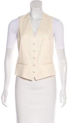 Saint Laurent Wool Button-Up Vest