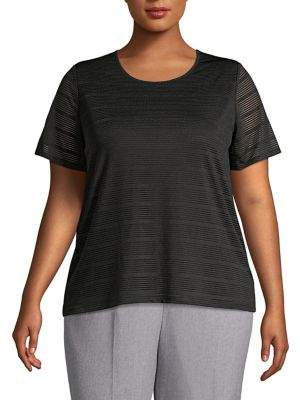 Calvin Klein Plus Shadow Striped T-Shirt