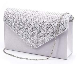 366fd043f8 U-Story Women's Rhinestone Satin Frosted Evening Wedding Clutch Bag Handbag  Purse