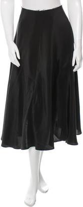 Yohji Yamamoto Silk Midi Skirt w/ Tags $325 thestylecure.com