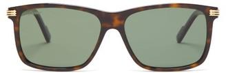 Cartier Eyewear - Square Tortoiseshell Acetate Sunglasses - Mens - Tortoiseshell