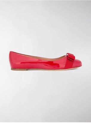 Salvatore Ferragamo Varina Patent Leather Ballet Flat