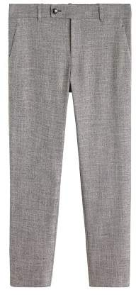 Flecked suit trousers
