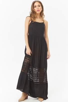 Forever 21 Boho Me Crochet-Trim Cami Maxi Dress
