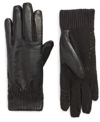 URBAN RESEARCH Leather Touchscreen Compatible Gloves