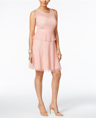 NY Collection Peplum Fit & Flare Dress $60 thestylecure.com