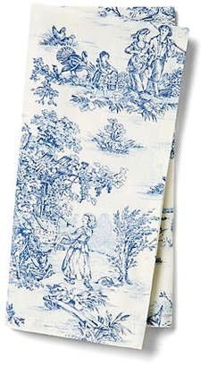 Maison Du Linge Set of 4 Indiennes Napkins - Blue