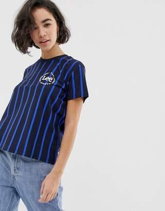 Lee Jeans sports stripe logo t-shirt