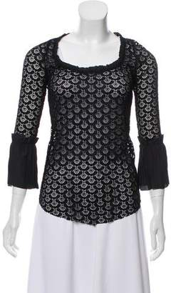 Calvin Rucker Lace Long Sleeve Top