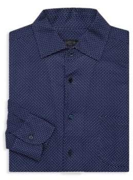 Corneliani Polka Dot Dress Shirt