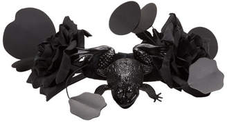 Comme des Garcons Black Toy Frog and Flower Necklace