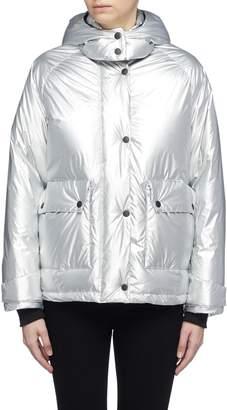 Rag & Bone 'Aiden' detachable hood metallic down puffer jacket