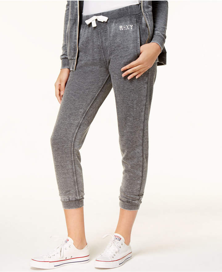 Roxy Juniors' Cotton Fleece-Lined Jogger Pants