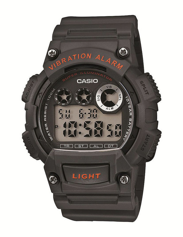 Casio Mens Gray and Red Digital Sport Watch W735H-8AVOS