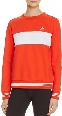 adidas Originals Stripe Sweatshirt $70 thestylecure.com