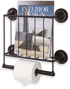Bed Bath & Beyond Oil Rubbed Bronze Wall Mount Magazine Rack