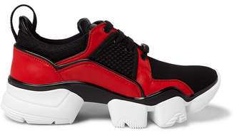 Jaw Neoprene, Leather And Mesh Sneakers