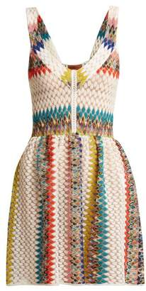 Missoni Mare - Riato Zigzag Knit Mini Dress - Womens - White Multi
