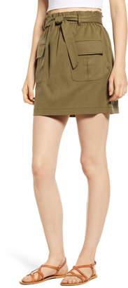 Mimichica Mimi Chica Paperbag Waist Utility Miniskirt