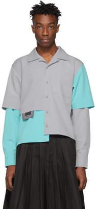 Keenkee Grey and Blue Nursing Shirt