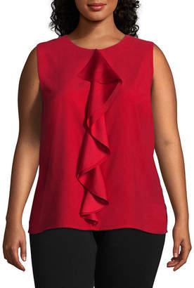 Liz Claiborne Drape Front Blouse - Plus