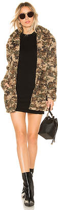 by the way. Emery Camo Faux Fur Coat