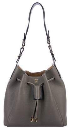 MCM Grained Leather Bucket Bag