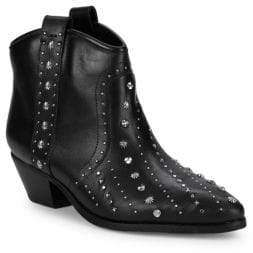 Sam Edelman Brian Studded Leather Western Booties