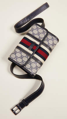 Gucci What Goes Around Comes Around Coated Canvas Waist Pouch